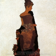 Portrait of Gerti Schiele painting reproduction, Egon Schiele
