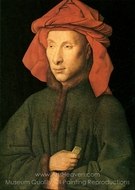 Portrait of Giovanni Arnolfini painting reproduction, Jan Van Eyck