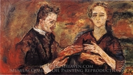 Portrait of Hans Tietze and Erica Tietze-Conrat painting reproduction, Oskar Kokoschka