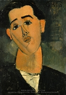 Portrait of Juan Gris painting reproduction, Amedeo Modigliani