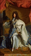 Portrait of Louis XIV painting reproduction, Hyacinthe Rigaud