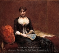 Portrait of Madame Leon Maitre painting reproduction, Henri Fantin-Latour