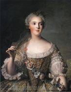 Portrait of Madame Sophie, Daughter of Louis XV painting reproduction, Jean Marc Nattier