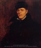 Portrait of Major Dillard H. Clark painting reproduction, Frank Duveneck