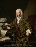 Portrait of Marc de Villiers painting reproduction, Jacques-Andre-Joseph Aved