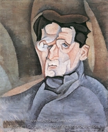 Portrait of Maurice Raynal painting reproduction, Juan Gris