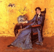 Portrait of Miss Dora Wheeler painting reproduction, William Merritt Chase