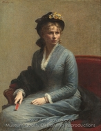 Portrait of Mlle C. D painting reproduction, Henri Fantin-Latour