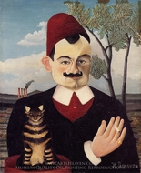 Portrait of Monsieur X. (Pierre Loti) painting reproduction, Henri Rousseau