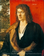 Portrait of Oswald Krel painting reproduction, Albrecht Durer