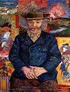 Portrait of Pere Tanguy painting reproduction, Vincent Van Gogh