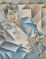Portrait of Picasso painting reproduction, Juan Gris