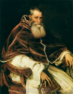 Portrait of Pope Paul III painting reproduction, Titian