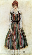 Portrait of the Artist's Wife, Standing painting reproduction, Egon Schiele