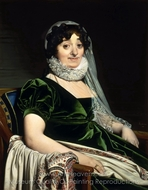 Portrait of the Countess of Tournon painting reproduction, Jean Auguste Dominique Ingres