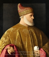 Portrait of the Doge, Andrea Gritti painting reproduction, Vincenzo Catena