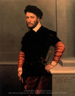 Portrait of the Duke of Albuquerque painting reproduction, Giovanni Battista Moroni
