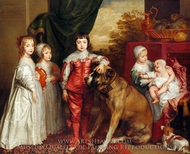 Portrait of the Five Eldest Children of Charles I painting reproduction, Sir Anthony Van Dyck