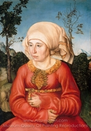 Portrait of the Wife of a Jurist painting reproduction, Lucas Cranach