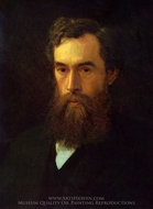 Portrait of Tretyakov painting reproduction, Ivan Kramskoy