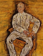 Portrait of Victor Ritter von Bauer painting reproduction, Egon Schiele