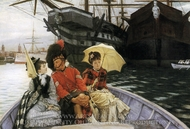Portsmouth Dockyard painting reproduction, James Tissot