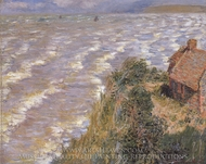 Pourville, Flood Tide painting reproduction, Claude Monet