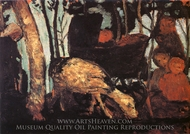 Pram with Goat painting reproduction, Paula Modersohn-Becker