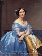 Princesse Albert de Broglie painting reproduction, Jean Auguste Dominique Ingres
