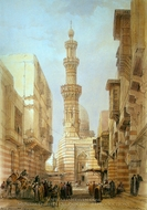 Principal Mosque at Boulak painting reproduction, David Roberts