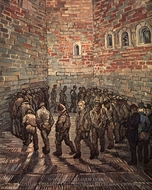 Prisoners Exercising (after Gustave Dore) painting reproduction, Vincent Van Gogh