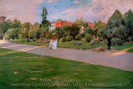 Prospect Park, Brooklyn painting reproduction, William Merritt Chase