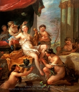 Psyche at her Toilet painting reproduction, Charles Joseph Natoire