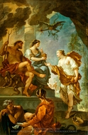 Psyche Obtaining the Elixir of Beauty from Proserpine painting reproduction, Charles Joseph Natoire