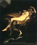 Psyche Transported to Heaven painting reproduction, Pierre Paul Prudhon