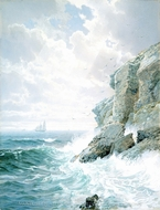 Purgatory Cliff painting reproduction, William Trost Richards