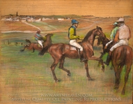 Race Horses painting reproduction, Edgar Degas