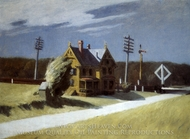 Railroad Crossing painting reproduction, Edward Hopper