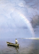 Rainbow painting reproduction, Nikolay Dubovskoy