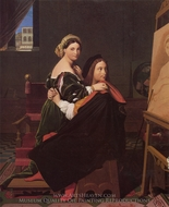 Raphael and the Fornarina painting reproduction, Jean Auguste Dominique Ingres