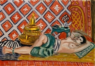 Reclining Odalisque painting reproduction, Henri Matisse