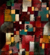 Redgreen and Violet-Yellow Rhythms painting reproduction, Paul Klee