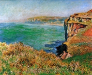 Reef at Varengeville painting reproduction, Claude Monet
