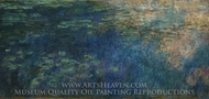 Reflections of Clouds on the Water-Lily Pond painting reproduction, Claude Monet