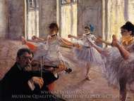 Rehearsal painting reproduction, Edgar Degas