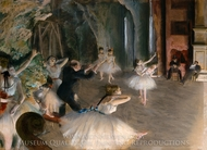 Rehearsal of Ballet on the Stage painting reproduction, Edgar Degas