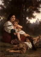 Rest (Le Repos) painting reproduction, William Adolphe Bouguereau