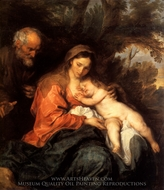 Rest on the Flight to Egypt painting reproduction, Sir Anthony Van Dyck