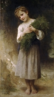 Returned from the Fields (Retour des champs) painting reproduction, William Adolphe Bouguereau