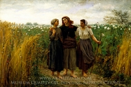 Returning from the Fields painting reproduction, Jules Breton